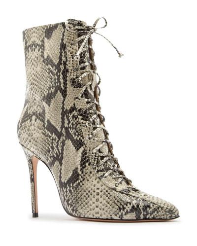 Anaiya Point-Toe Lace-Up Boots