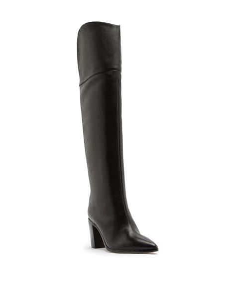 Schutz Anaisha Point-Toe Knee Boots