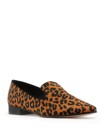 Graca Leopard Calf Hair Loafers