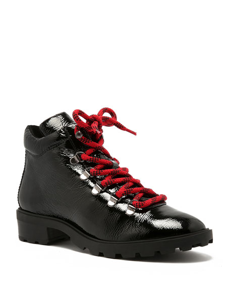 Schutz Niceia Leather Hiker Boots