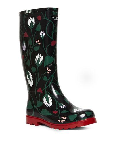 renata floral rain boots