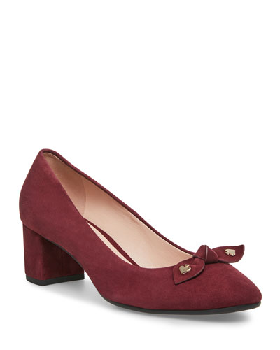 benice suede block-heel pumps