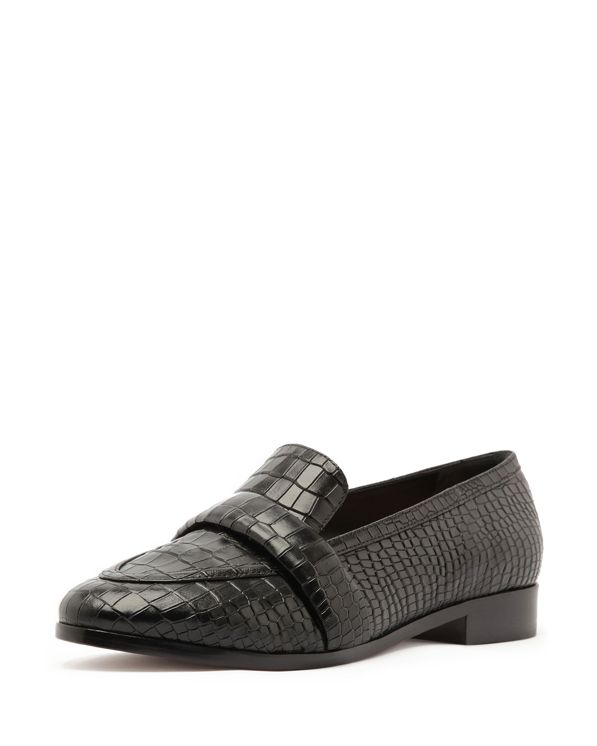 Schutz Loafers ROMINA CROCODILE-EMBOSSED LOAFERS