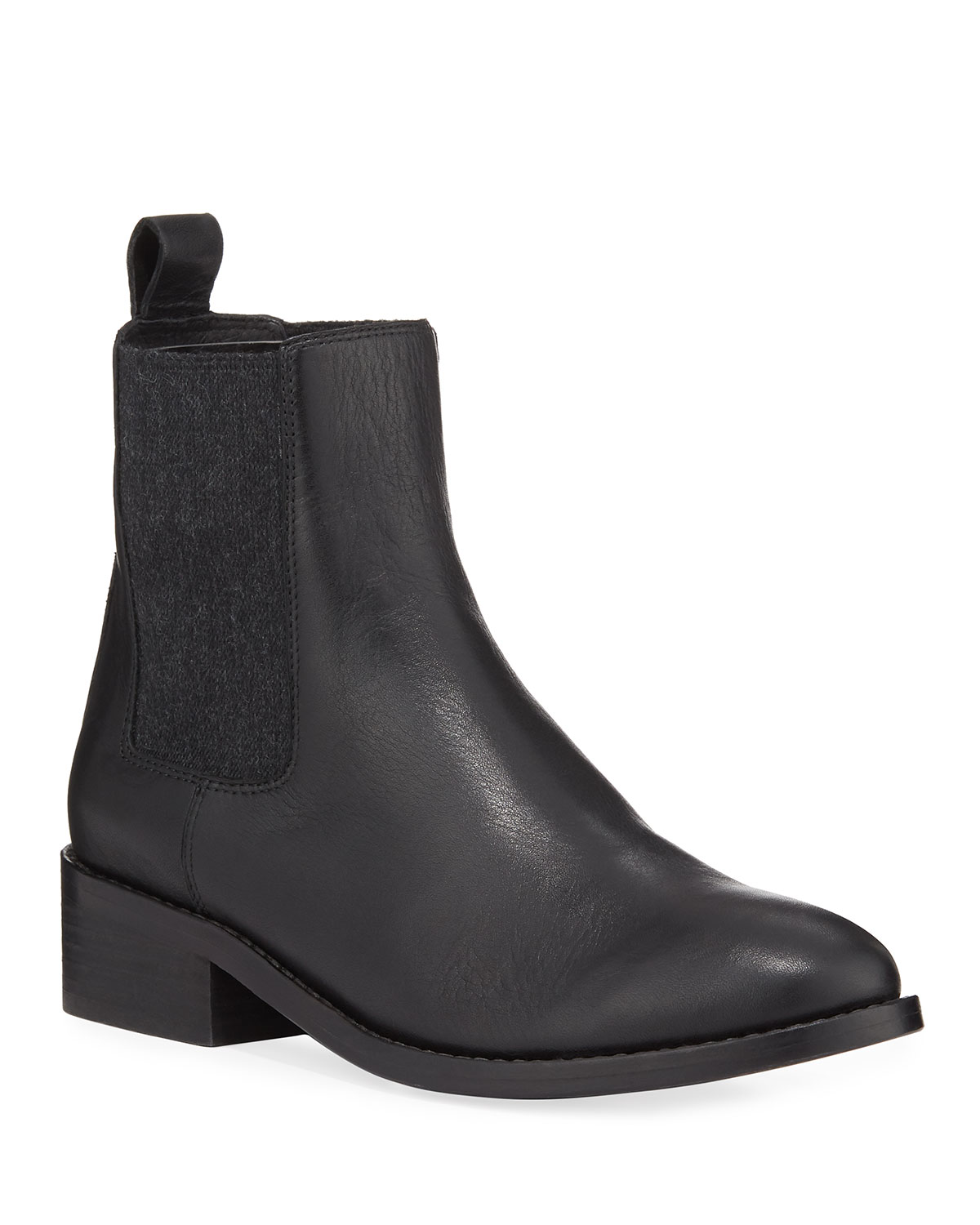Vent Leather Gored Booties