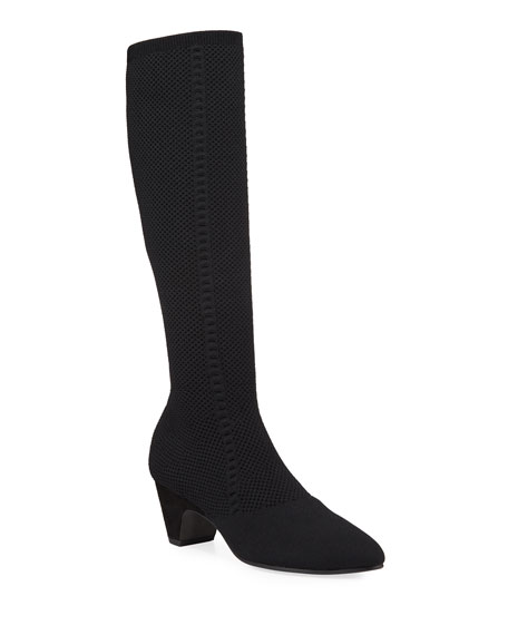 Eileen Fisher Keto Stretch Knit Knee Boots