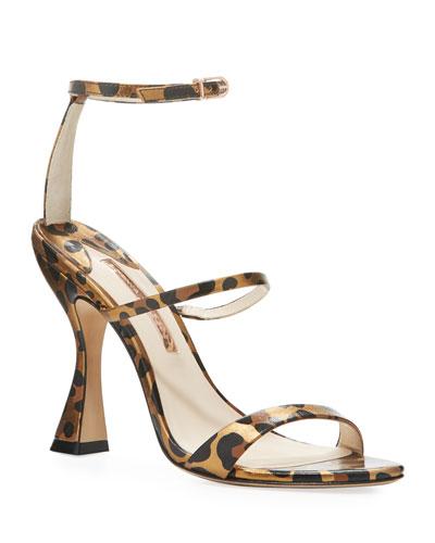 Rosalind Hourglass Leopard Sandals
