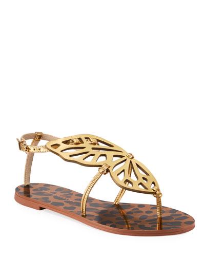 Butterfly Leopard Flat Sandals