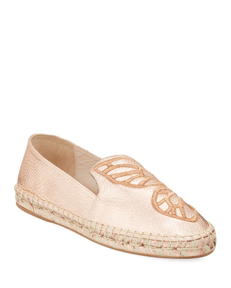 Sophia Webster Butterfly Metallic Flat Espadrilles