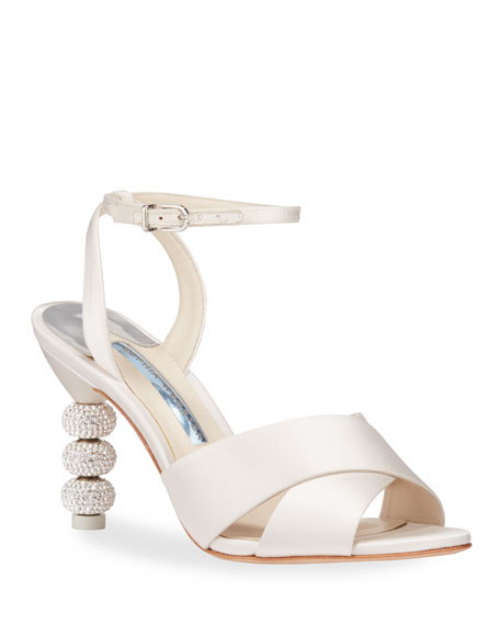Sophia Webster Natalia Mid Crystal Sandals