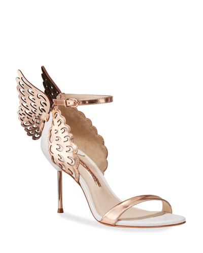 Evangeline Wing Metallic Sandals