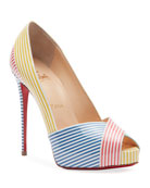 Christian Louboutin Marine Alta 120 Red Sole Pumps