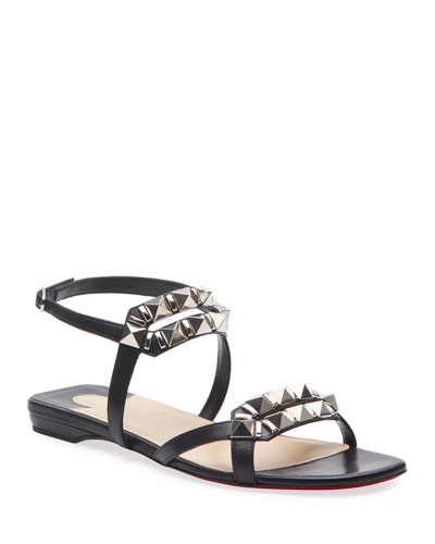 Galerietta Flat Leather Red Sole Sandals