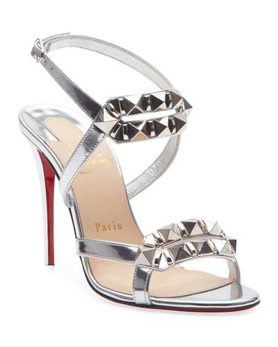 Metallic Red Sole Shoes   Neiman Marcus