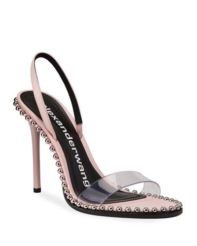 Nova Leather Bead Slingback Sandals
