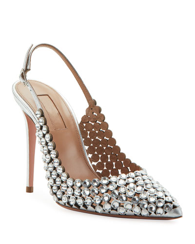 Tequila Crystal Slingback Pumps