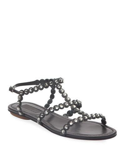 Tequila Jeweled Flat Sandals