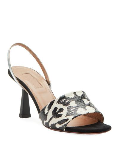 Leigh Kilim Snake and Metallic Sandals