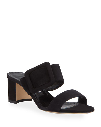 Tituba Suede Slide Sandals