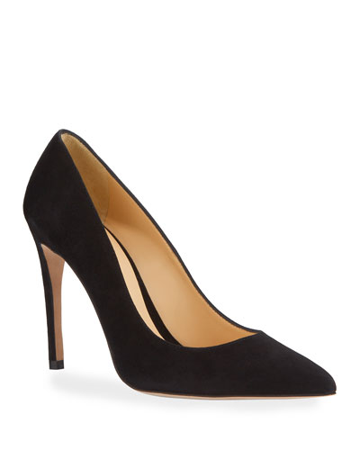 Piano Suede Pointed-Toe Pumps