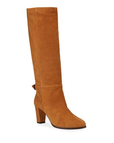 Rachel Suede Knee Boots