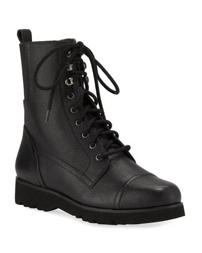Camren Cap-Toe Leather Hiker Boots