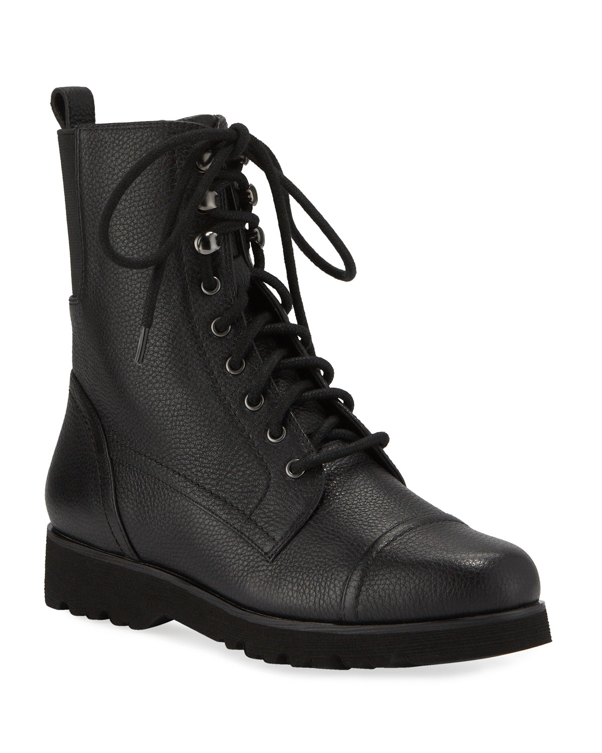 Camren Cap-Toe Leather Hiker Boots