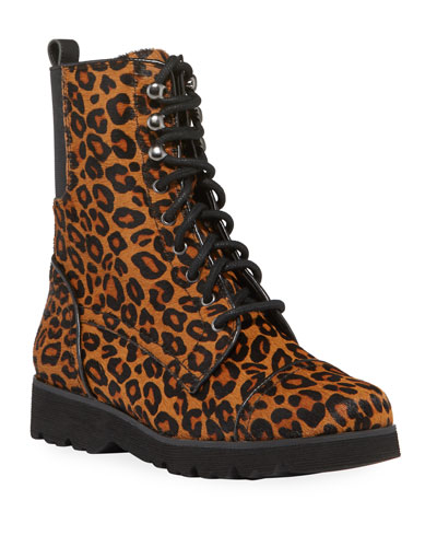 Camren Leopard-Print Hiker Boots