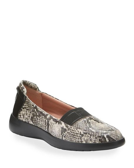 Taryn Rose Tiffany Weatherproof Leather Comfort Slip-On Flats
