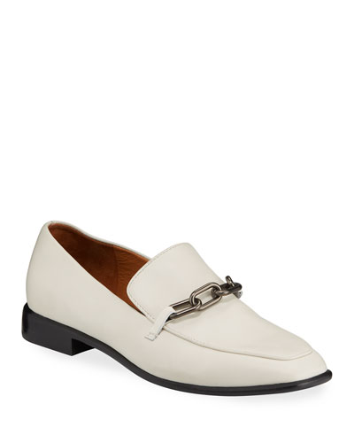 Aslen Leather Chain-Strap Loafers
