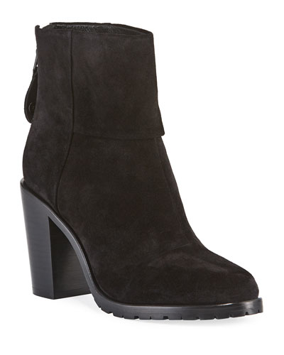 Newbury Suede Cuffed Ankle Booties