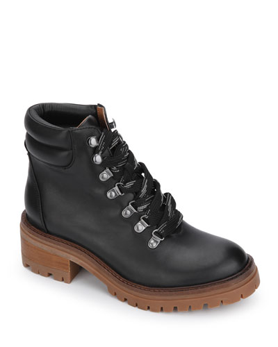 Brooklyn Leather Hiker Booties