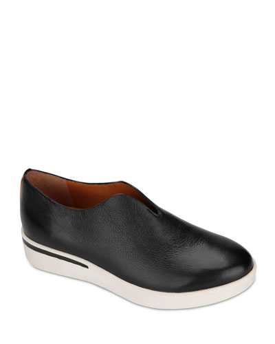 Hanna Leather Slip-On Sneakers