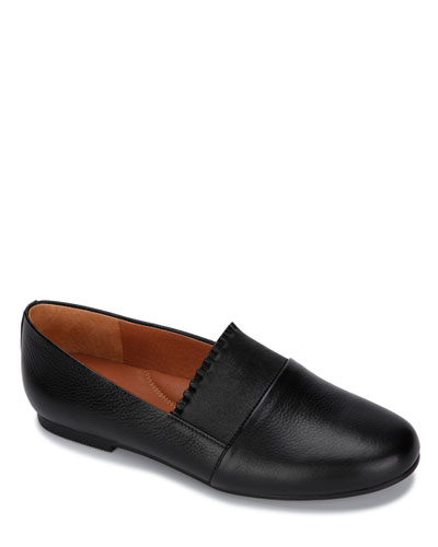 Eugene Ruffle Leather Slip-On Loafers