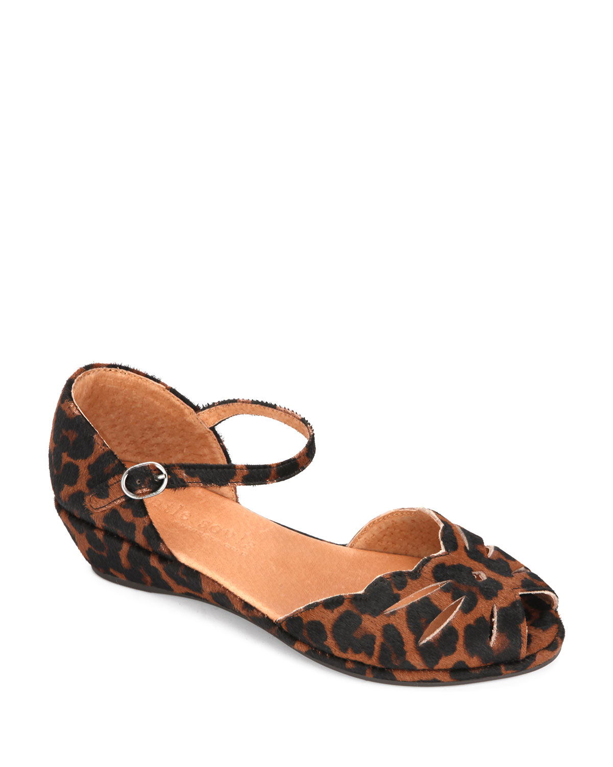 Lilly Moon Leopard Demi-Wedge d'Orsay Sandal
