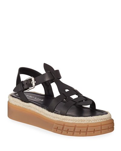 Low Gladiator Chunky Sandals