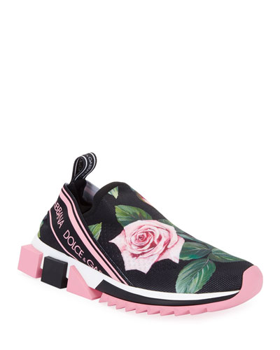 Sorrento Rose Knit Trainer Sneakers