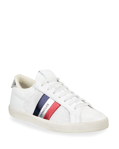 Striped Leather Sneaker   Neiman Marcus