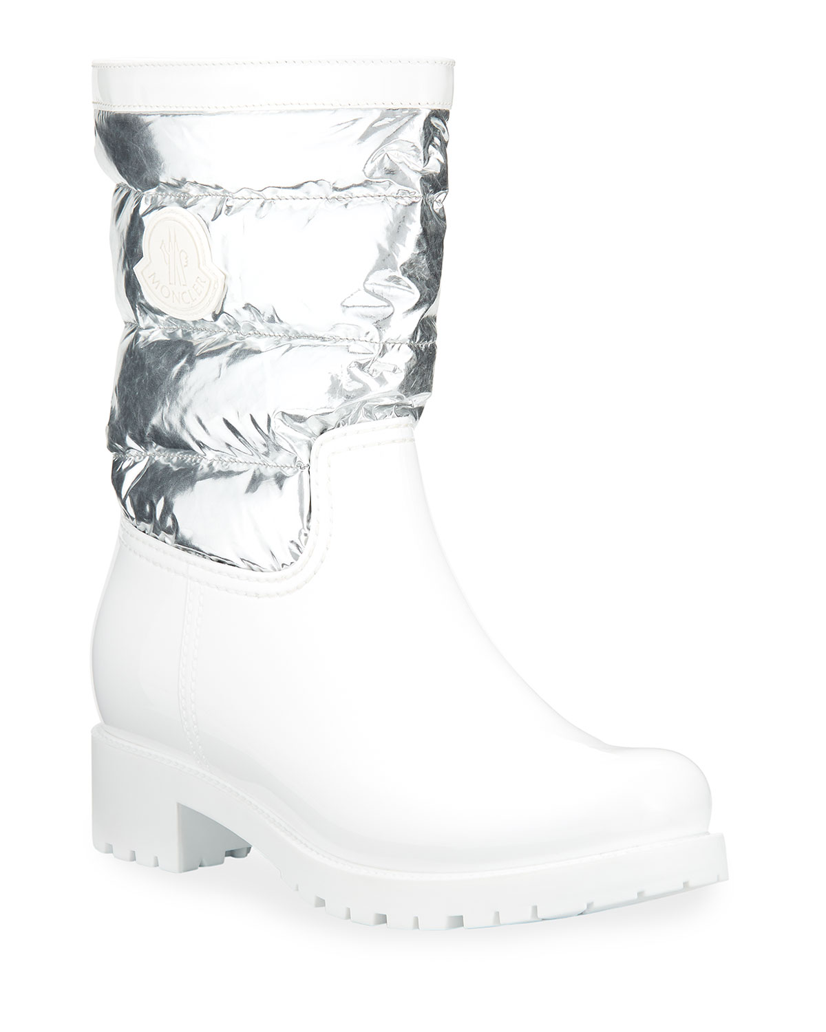 Moncler Boots GISELE PVC AND METALLIC BOOTS