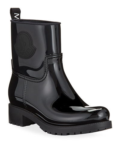Ginette Stivale Patent Rain Booties