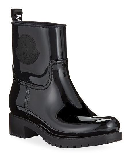Moncler Ginette Stivale Patent Rain Booties