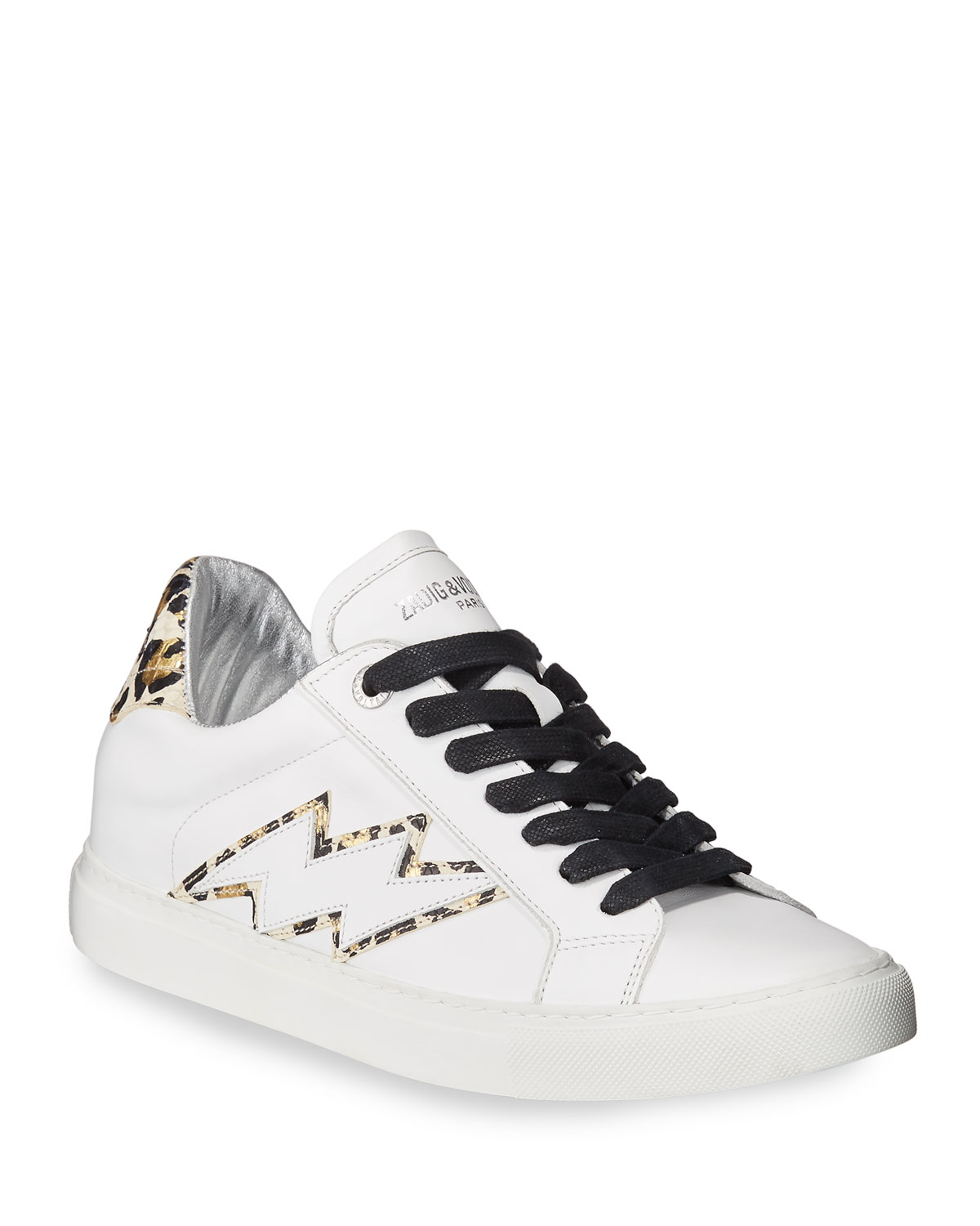Zadig & Voltaire Sneakers ZV1747 LEATHER AND LEO BOLT SNEAKERS