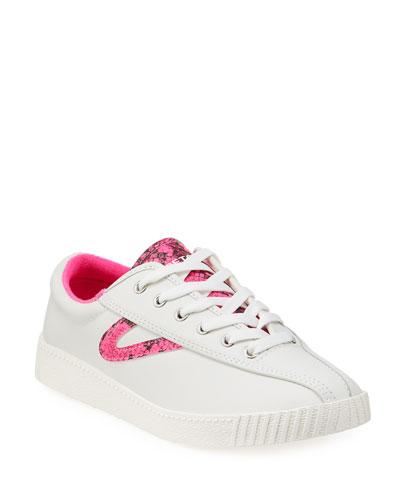 Nylite 39 Plus Neon Snake-Print Sneakers