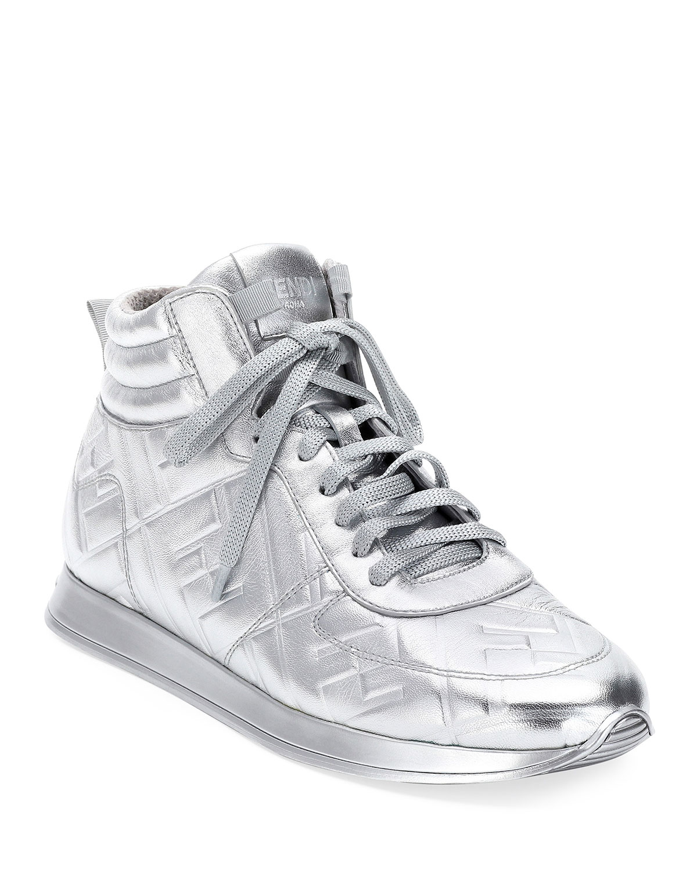 FFreedom Metallic High-Top Sneakers