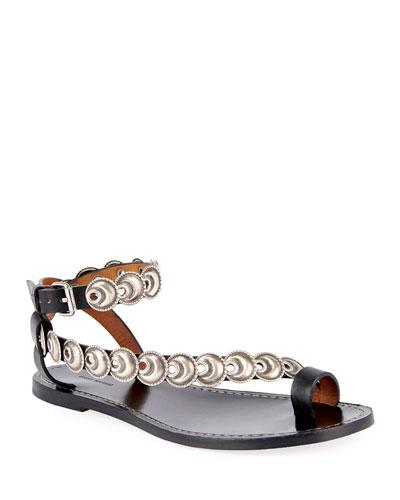 Ermony Flat Metal Sandals