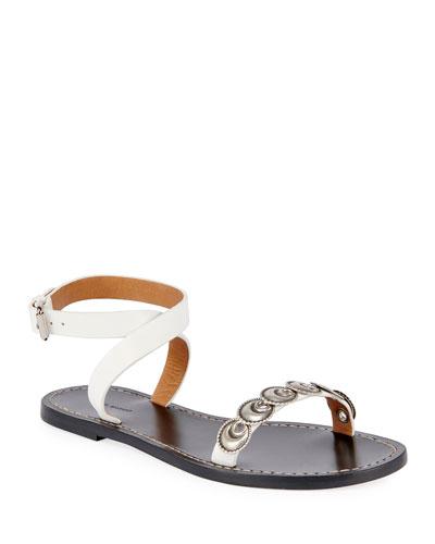 Eldory Flat Metal Sandals