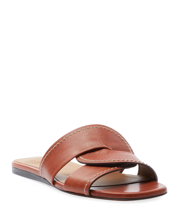 Candice Flat Twist Slide Sandals