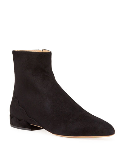 Laurena Suede Ankle Booties