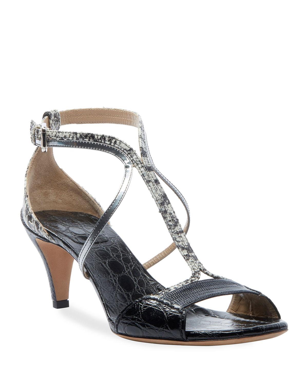 Carla Snakeskin Strappy Sandals