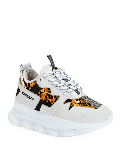 Western Baroque Chain Sneakers
