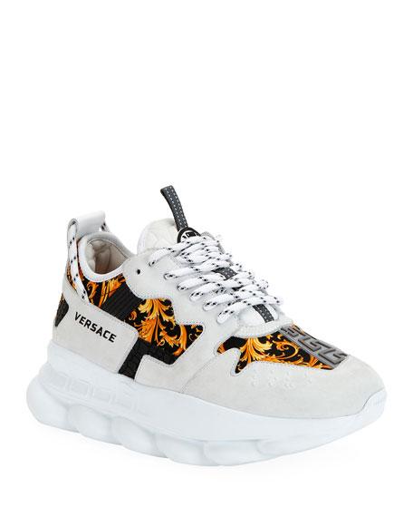 Versace Western Baroque Chain Sneakers
